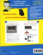 Apprendre le clavier et la souris pas à pas pour les nuls - 4ème de couverture - Format classique