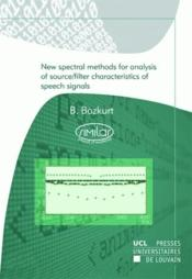 New Spectral Methods For Analysis Of Source - Couverture - Format classique