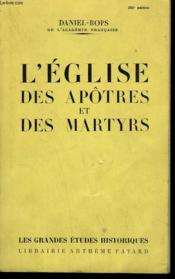 L'Eglise Des Apotres Et Des Martyrs. - Couverture - Format classique