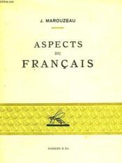 Aspects Du Francais - Couverture - Format classique