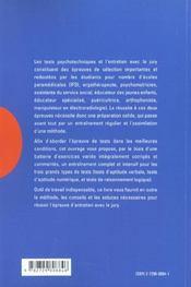 Reussir Les Tests Psychotechniques Et L'Entretien D'Admission Nouvelle Edition - 4ème de couverture - Format classique