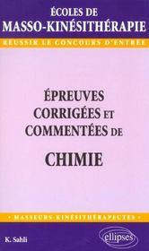 Epreuves Corrigees Et Commentees De Chimie - Intérieur - Format classique