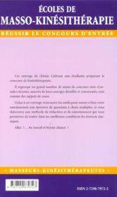 Epreuves Corrigees Et Commentees De Chimie - 4ème de couverture - Format classique