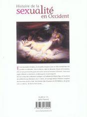 Histoire De La Sexualite En Occident - 4ème de couverture - Format classique
