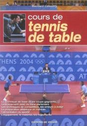 Cours De Tennis De Table - Intérieur - Format classique