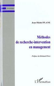 Methodes De Recherche-Intervention En Management - Intérieur - Format classique