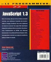 Le Programmeur Javascript - 4ème de couverture - Format classique