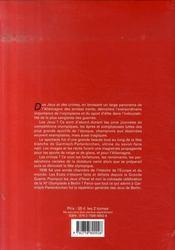 Des jeux et des crimes ; 1936, le piège blanc olympique - 4ème de couverture - Format classique