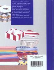 Le cartonnage - 4ème de couverture - Format classique