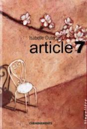 Article 7 - Couverture - Format classique
