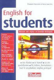English for students ; réussir son séjour en Grande-Bretagne - Intérieur - Format classique