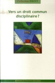 Vers un droit commun disciplinaire ? - Intérieur - Format classique