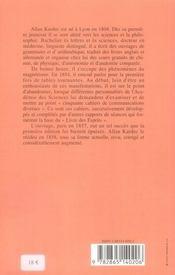 Le livre des esprits - 4ème de couverture - Format classique