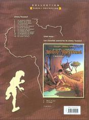 Les nouvelles aventures de Jimmy Tousseul t.5 ; le royaume du léopard - 4ème de couverture - Format classique