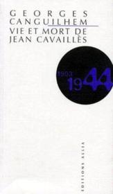 Vie et mort de Jean Cavaillès (1944) - Couverture - Format classique