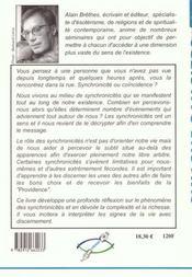 Synchronicites - Signes Magiques De La Vie - 4ème de couverture - Format classique