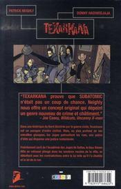 Texarkana t.1 - 4ème de couverture - Format classique