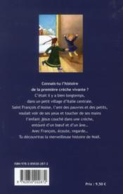 Le Noël de François d'Assise - 4ème de couverture - Format classique