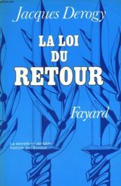 La Loi Du Retour. - Couverture - Format classique