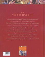 La Menuiserie - 4ème de couverture - Format classique