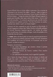 Guide Emile Zola - 4ème de couverture - Format classique