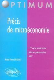 Précis de microéconomie - Intérieur - Format classique