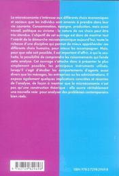 Précis de microéconomie - 4ème de couverture - Format classique