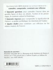 Rousseau Les Confessions Livres I A Iv - 4ème de couverture - Format classique