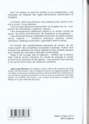 La Dietetique Du Sportif - 4ème de couverture - Format classique