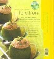 Le citron - 4ème de couverture - Format classique