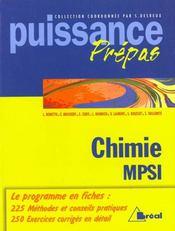 Puissance 15 - chimie mpsi - Intérieur - Format classique