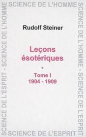 Lecons Esoteriques T.1 - Couverture - Format classique