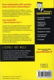 Autocad 2012 pour les nuls - 4ème de couverture - Format classique