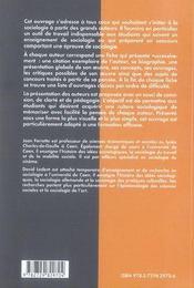 La sociologie à travers les grands auteurs - 4ème de couverture - Format classique