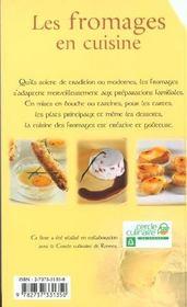 Les Fromages En Cuisine - 4ème de couverture - Format classique