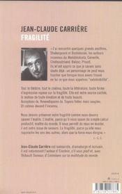 Fragilite - 4ème de couverture - Format classique