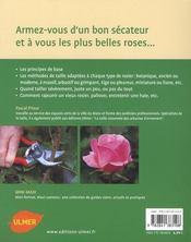 La taille des rosiers - 4ème de couverture - Format classique