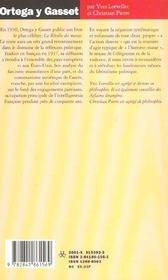 Ortega Y Gasset ; L'Exigence De La Verite - 4ème de couverture - Format classique