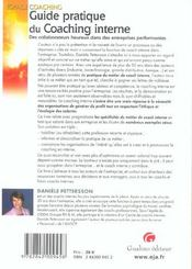 Guide Pratique Du Coaching Interne - 4ème de couverture - Format classique