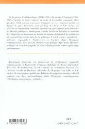 Armee Et Societe En Espagne ; Synthese - 4ème de couverture - Format classique