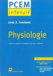 Physiologie Pcem Intensif Pour Le Concours Cours Complet Et Concis 500 Questions Reponses - Intérieur - Format classique