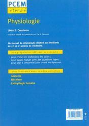 Physiologie Pcem Intensif Pour Le Concours Cours Complet Et Concis 500 Questions Reponses - 4ème de couverture - Format classique