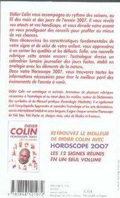 Horoscope 2007 ; Verseau - 4ème de couverture - Format classique