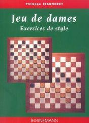 Jeu De Dames - Exercices De Style - Intérieur - Format classique