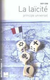 La Laicite Principe Universel - Intérieur - Format classique