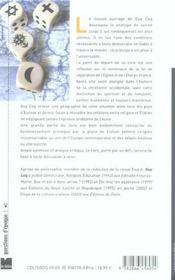La Laicite Principe Universel - 4ème de couverture - Format classique