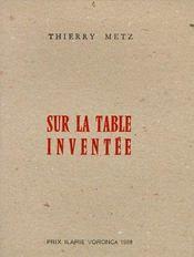 Sur La Table Inventee - Couverture - Format classique