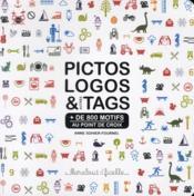 Pictos, logos & tags au point de croix - Couverture - Format classique