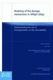 Modeling Of The Damage Mechanisms In Almgsi Alloys - Couverture - Format classique