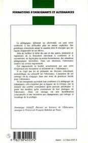 Formations D'Enseignants Et Alternances - 4ème de couverture - Format classique